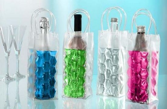 Reusable Plastic Wine Bottle Cooler Bags For Wine / Beer Packing