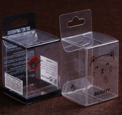Customized Folding Printed PVC Box , Fashion Heat Seal Clear Plastic Box